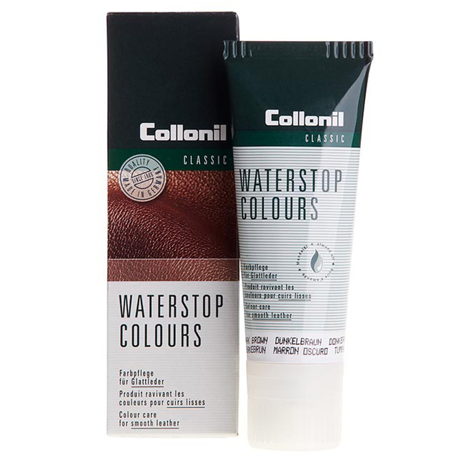 Water-stop cream in tube with application sponge collonil, black , brown , 902-6074 - 13