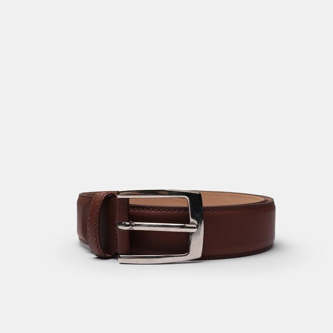 Men's brown leather belt bata, brown , 954-3170 - 13