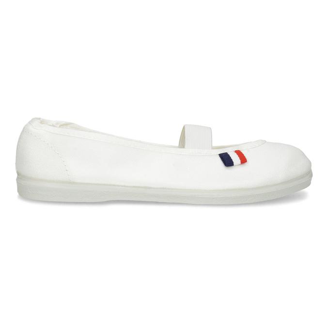 Kids' gym shoes bata, white , 379-1001 - 19