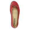 Casual leather ballerinas weinbrenner, red , 526-5503 - 19