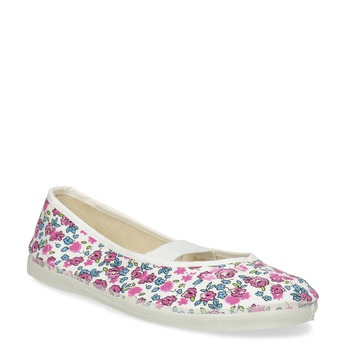 Children's patterned gym shoes bata, white , pink , 379-5001 - 13