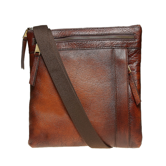 Men´s leather Crossbody bag, brown , 964-4138 - 26