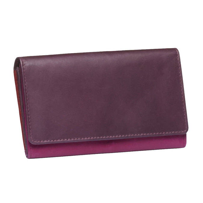 Ladies' leather purse bata, red , 944-5156 - 13