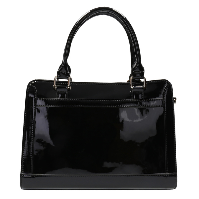 Black handbag with gold detailng bata, black , 961-6610 - 19