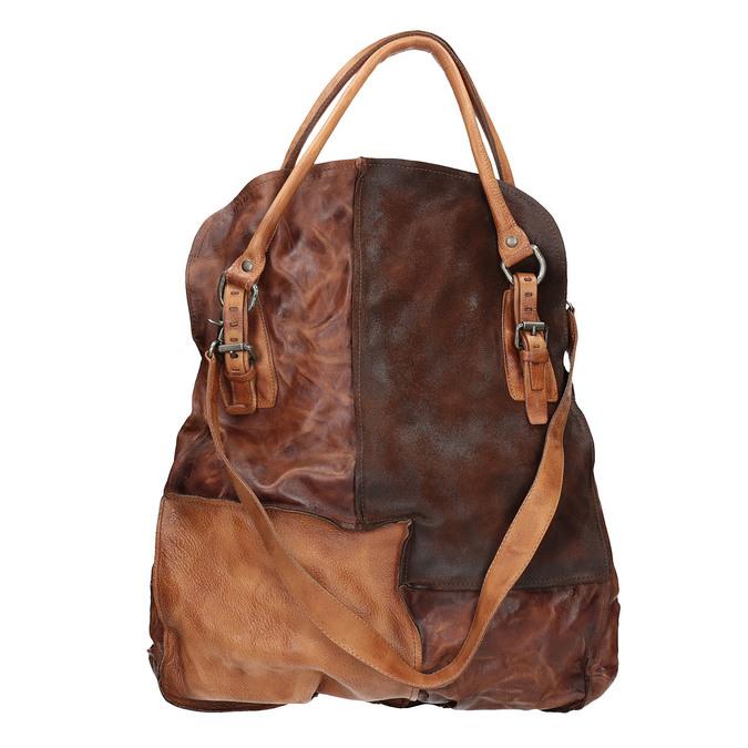 Leather handbag with rigid straps a-s-98, 966-0001 - 19