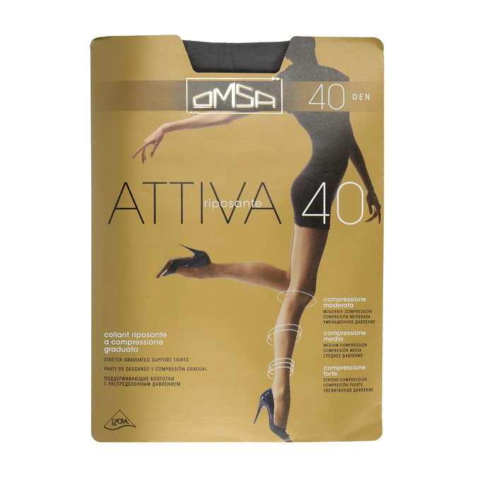 Ladies' tights omsa, black , 919-2386 - 13