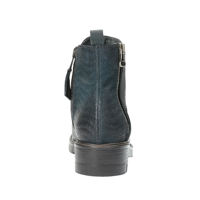 Leather ankle boots with a distinct sole bata, turquoise, 596-9615 - 17
