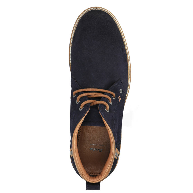 Men's shoes in the Chukka Boots style bata, blue , 893-9652 - 19