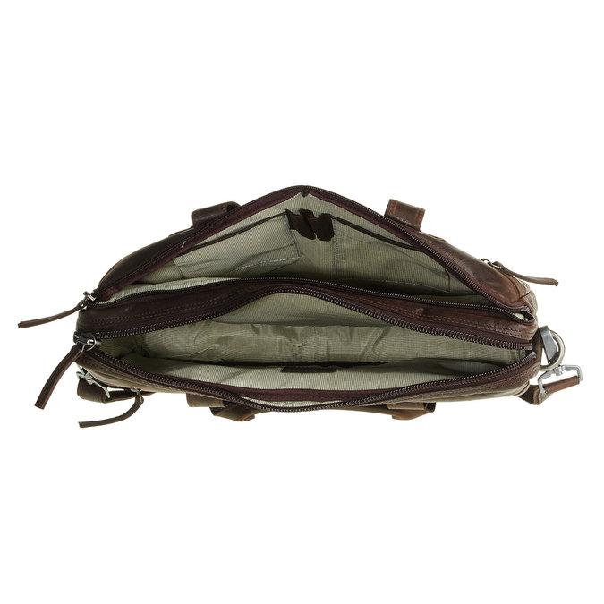 Zippered leather bag bata, brown , 964-4101 - 15