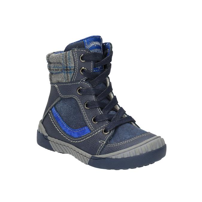 Children's insulated leather boots bubblegummer, blue , 116-9102 - 13