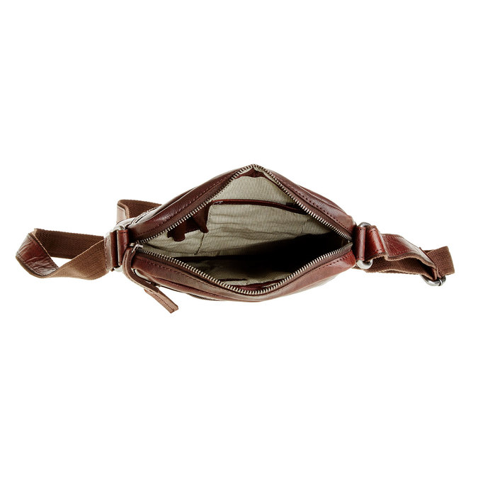 Men´s leather Crossbody bag bata, brown , 964-4180 - 15