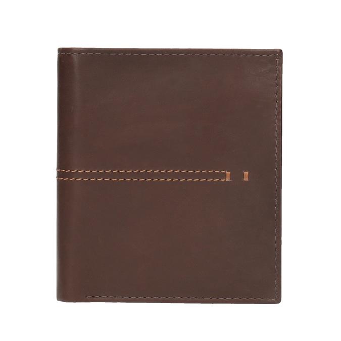 Men's quilted wallet bata, brown , 944-3176 - 26