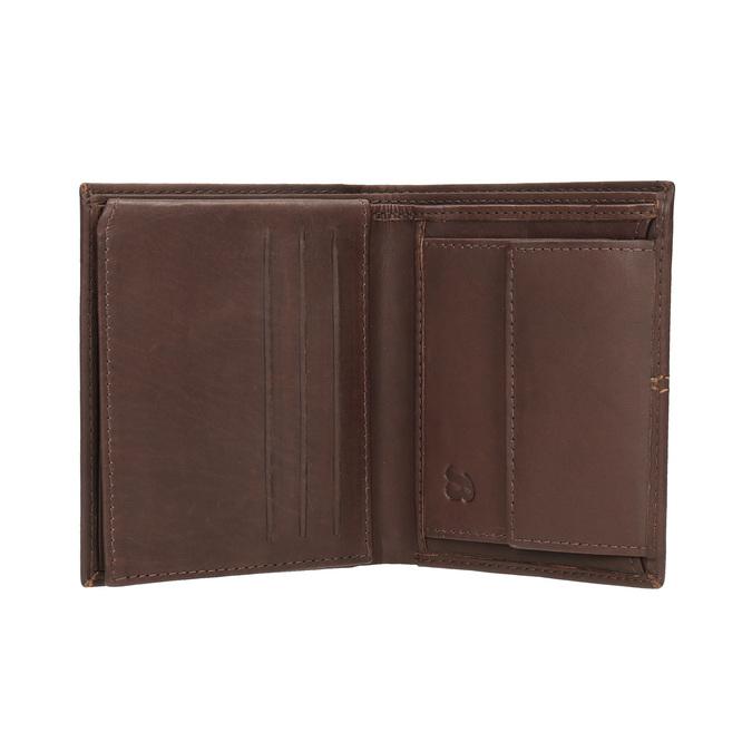 Men's quilted wallet bata, brown , 944-3176 - 15
