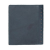 Leather wallet with perforations bata, blue , 944-9175 - 19