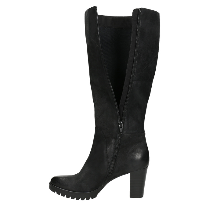 Women's high boots bata, black , 796-6601 - 26