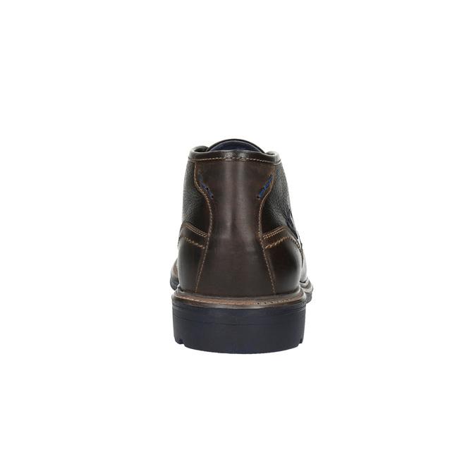 Leather Chukka Boots bata, brown , 824-4701 - 17