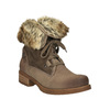 Ladies' winter boots with fur bata, brown , 591-3605 - 13