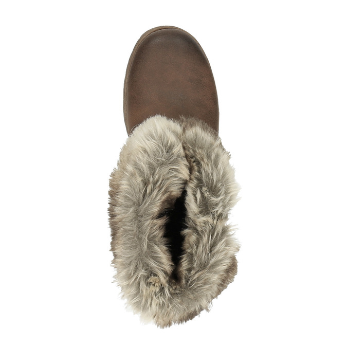 Ladies' ankle boots with fur bata, brown , 591-4601 - 19