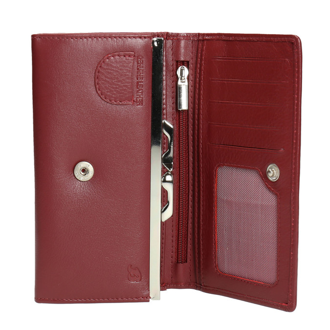 Ladies' leather purse, red , 944-5357 - 15