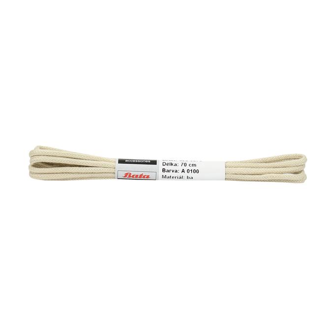 Beige laces bata, beige , 901-8707 - 13