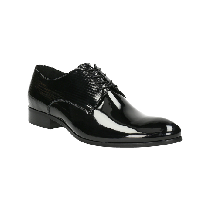 Lacquered leather shoes conhpol, black , 828-6604 - 13