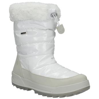 Ladies' white snow boots with fur weinbrenner, white , 591-1617 - 13