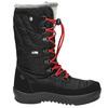 Ladies' black snow boots with fur weinbrenner, black , 599-6612 - 15