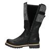 High boots with a distinctive sole bata, black , 591-6608 - 19