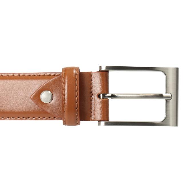 Men's brown leather belt, brown , 954-3153 - 26