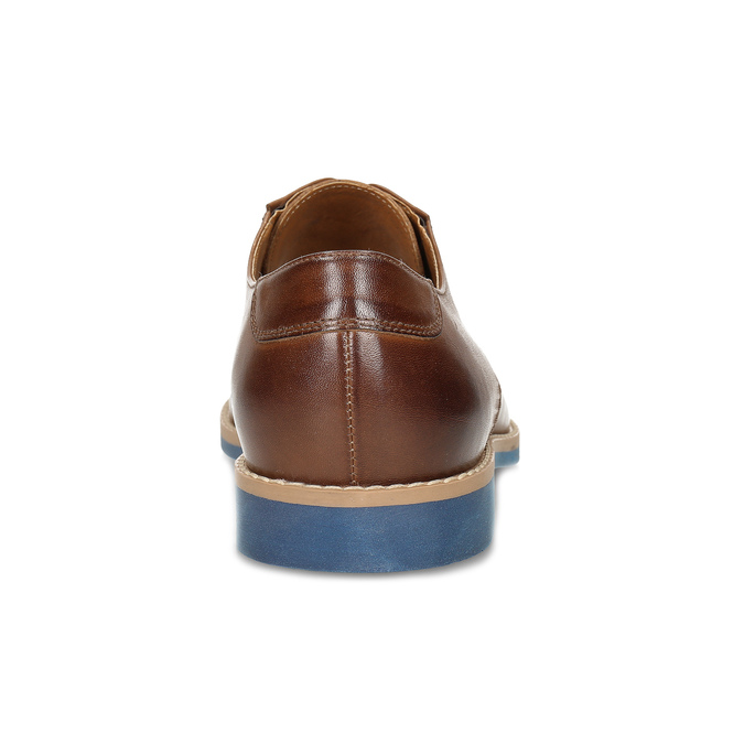 Leather shoes with a distinctive sole, brown , 824-3857 - 15