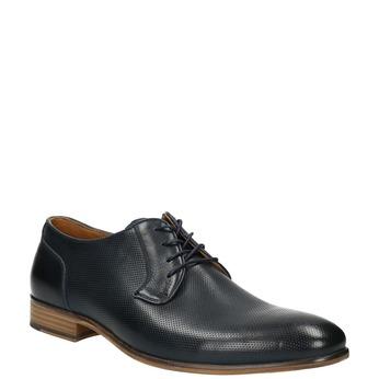 Blue leather shoes bata, blue , 826-9794 - 13