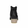 Black leather high ankle boots bata, black , 596-6633 - 17