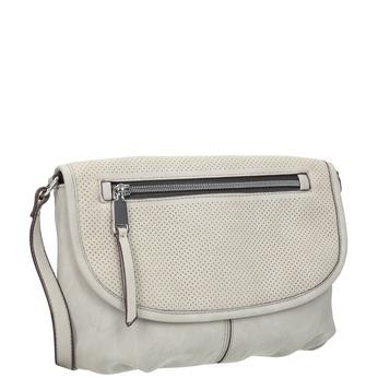 Crossbody handbag with perforated flap bata, beige , 961-2709 - 13