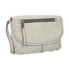 Crossbody handbag with perforated flap bata, beige , 961-2709 - 13