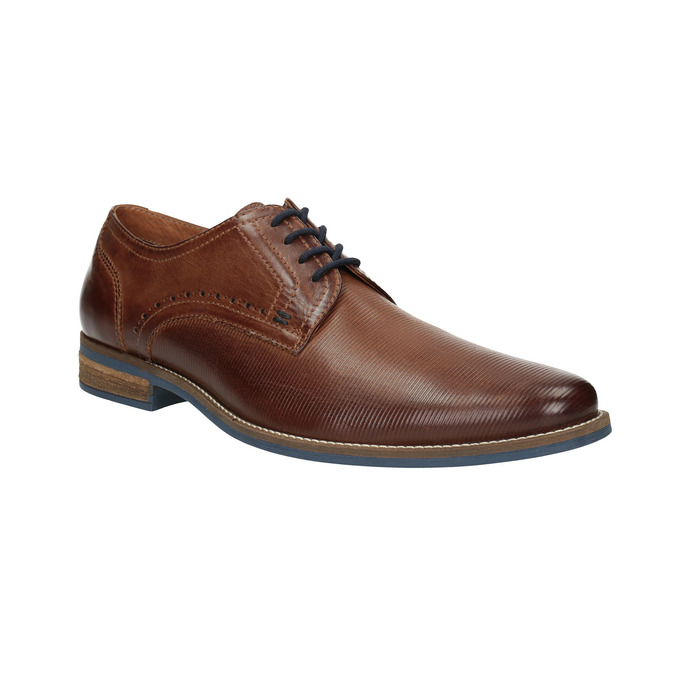 Men's brown leather shoes bata, brown , 826-4791 - 13