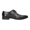 Black leather Derby shoes bata, black , 826-6804 - 15