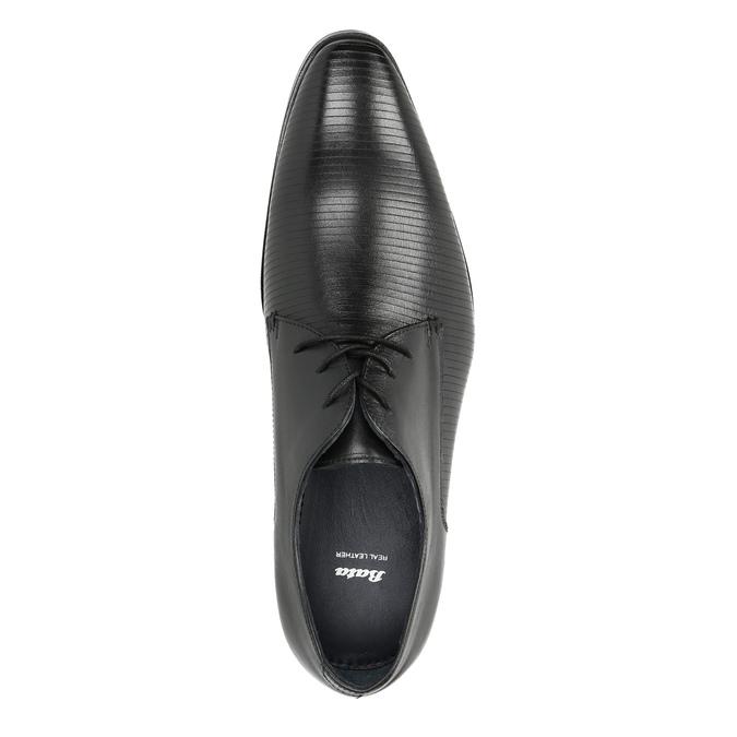 Black leather Derby shoes bata, black , 826-6804 - 19