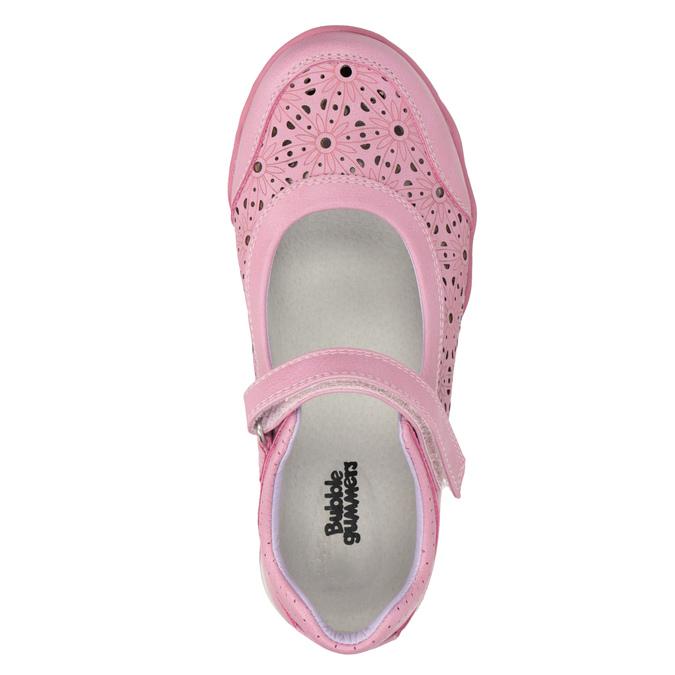 Girls' pink ballet pumps with strap across instep bubblegummer, pink , 321-5603 - 19