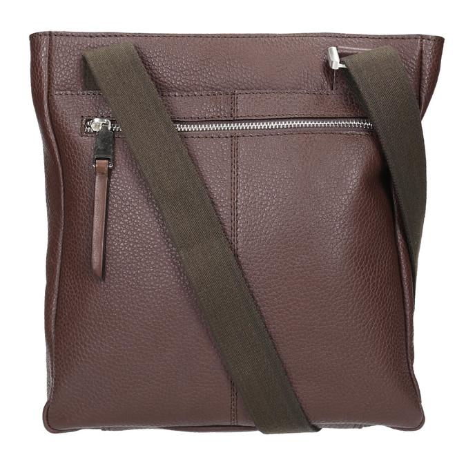 Men's leather crossbody bag bata, brown , 964-4230 - 26