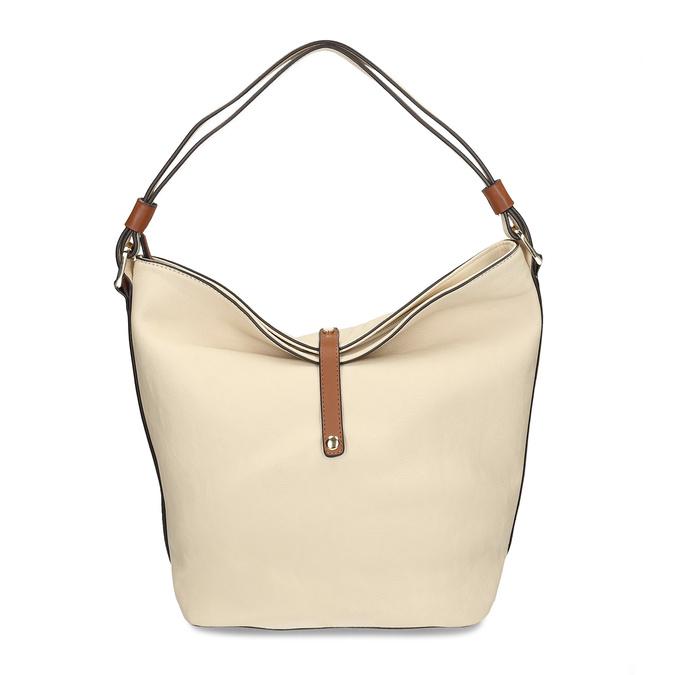 Hobo-style handbag, beige , 961-8705 - 26