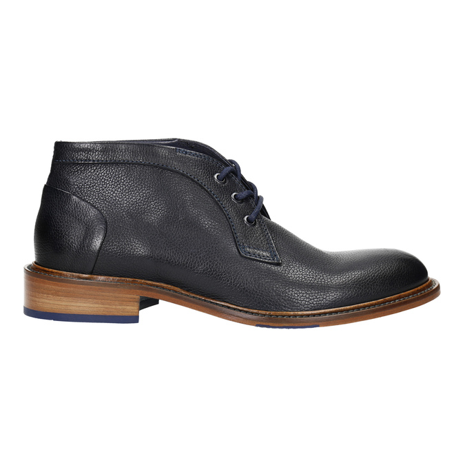 100% leather ankle boots bata, blue , 826-9909 - 15