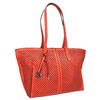 Red handbag with perforations gabor-bags, red , 961-5080 - 13