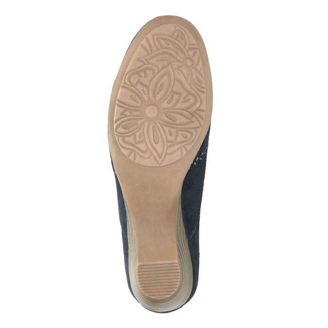Ladies' leather H-width moccasins bata, blue , 523-9603 - 26