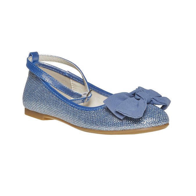 Girls' blue ballet pumps mini-b, blue , 329-9241 - 13