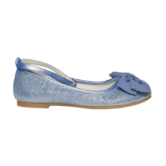 Girls' blue ballet pumps mini-b, blue , 329-9241 - 15