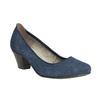 Leather pumps width H bata, blue , 623-9602 - 13