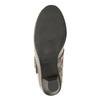 Leather pumps width H bata, beige , 623-2600 - 17