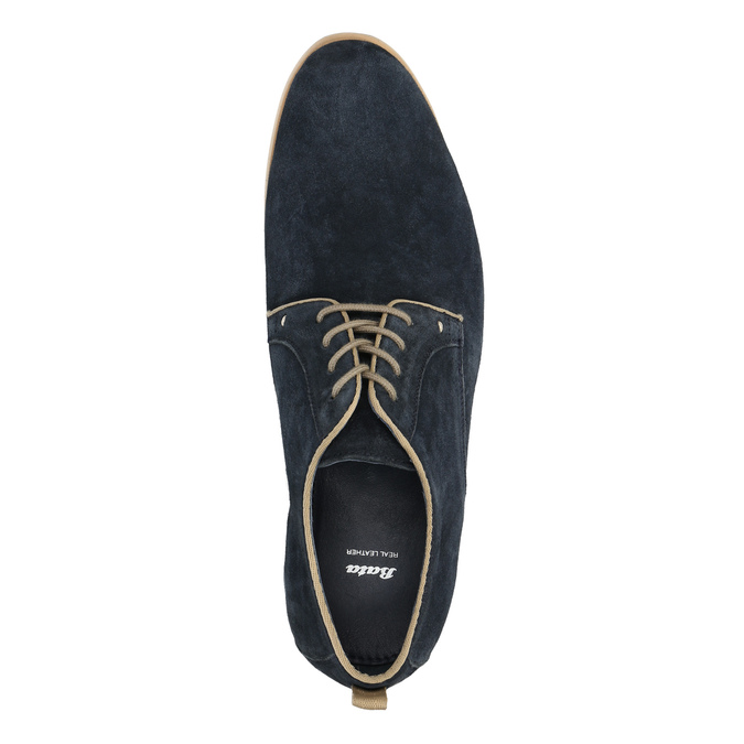 Shoes of brushed leather bata, blue , 823-9602 - 19