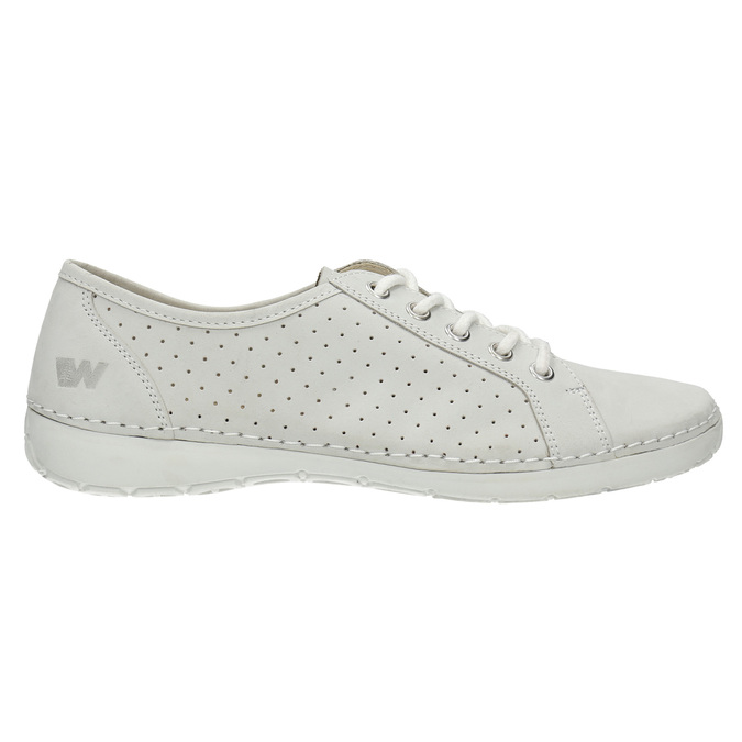 Ladies' casual leather shoes weinbrenner, white , 546-1602 - 15