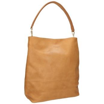 Leather handbag with detachable handle vagabond, beige , 964-8051 - 13